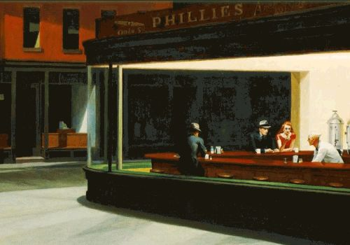 10 Paintings by Edward Hopper, the Most Cinematic American Painter of All, Turned into Animated GIFs