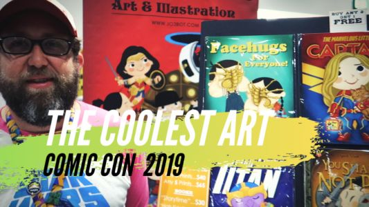 Video: The Coolest Art At Comic-Con 2019