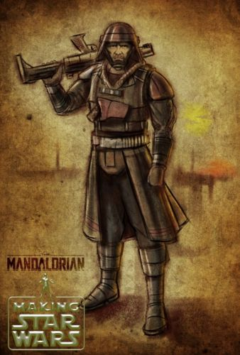 THE MANDALORIAN Artwork Reveals Michael Biehn's Bounty Hunter In Season 2 Of The Disney+ Series
