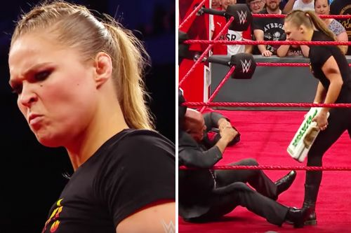 """Ronda Rousey """"Suspended"""" By WWE, Attacks Former Olympic Champion On 'Raw'"""