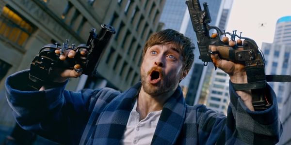 Daniel Radcliffe's Guns Akimbo Trailer Finally Explains That Harry Potter Meme