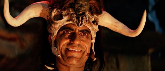What is Mola Ram looking at in this Shot?