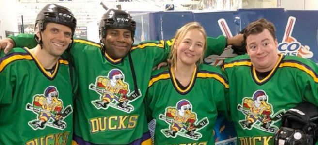 POTD: A Mini 'Mighty Ducks' Cast Reunion Happened at a Real Anaheim Ducks Hockey Game