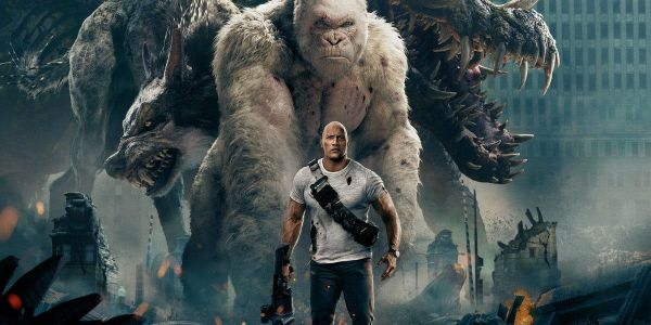 Rampage International Posters Feature All Three Giant Monsters