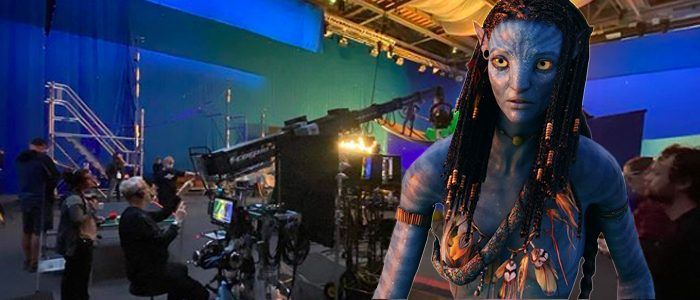 The Latest 'Avatar 2' Set Photo Shows Off a Safe Crew and.Some Kind of Jungle Man?
