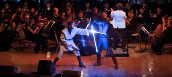 The Morning Watch: 'Star Wars' Lightsaber Fight Concert, An Interview with Goose the Cat & More