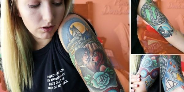 Harry Potter Fan Tattoos As Magical As Hogwarts' Enchanted Portraits