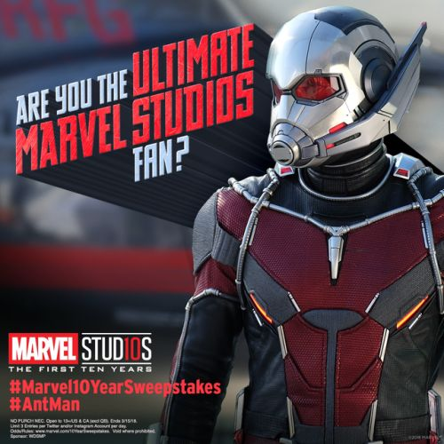 Join the celebration and enter the Marvel Studios Ultimate Fan