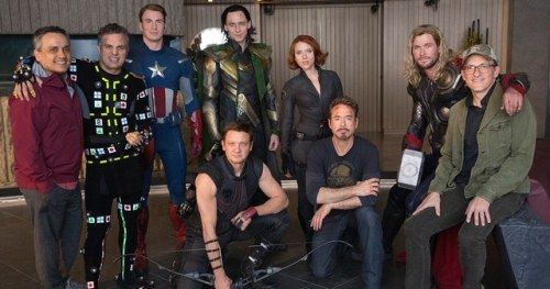 Original Avengers Assemble on Recreated 2012 Set in Latest
