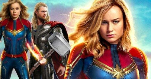 Captain Marvel Can Lift Thor's Hammer According to Brie