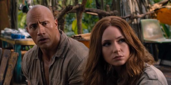 Dwayne Johnson Shares Jumanji 3 Set Photo With Karen Gillan