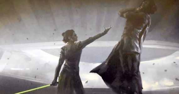Kylo Ren Gets Force Choked by Rey in New The Rise of Skywalker Concept Art