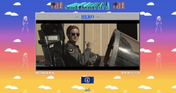 The Official 'Captain Marvel' Website Has Been Given a Gloriously 90s Makeover