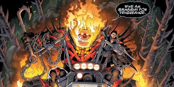 What Venom Looks Like Fused With Red Hulk & Ghost Rider