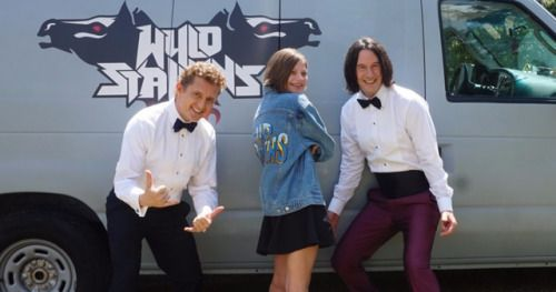 Young Girl's Bill & Ted Dream Comes True Thanks to