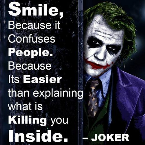 """""""Smile because it confuses people."""" - when is this said by the Joker?"""