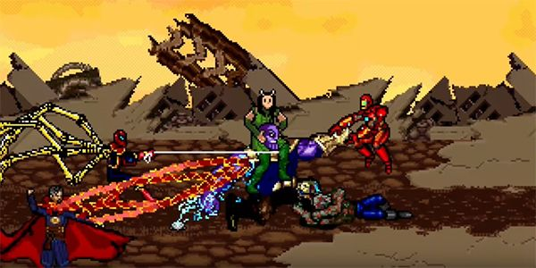 Someone Turned Avengers: Infinity War's Titan Battle Into A 16-Bit Game, And It's Awesome