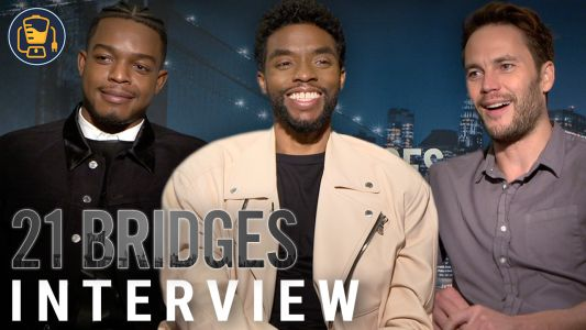 Video | 21 Bridges Cast Interviews With Chadwick Boseman, Taylor Kitsch And More