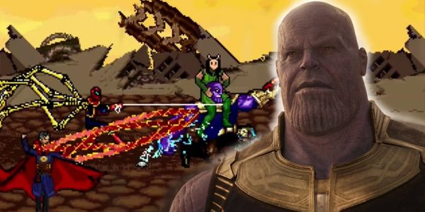 Avengers: Infinity War's Biggest Thanos Fight in 16-Bit