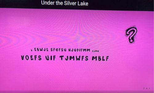 What is the cipher in the credits of Under the Silver Lake?