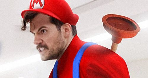 BossLogic Turns Henry Cavill Into Mario for Super Smash Bros