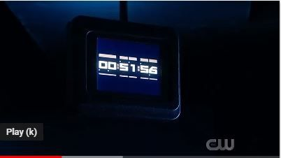 What is the countdown time shown in Flash Season 05x10?