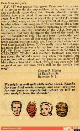 Stan Lee Gets an Exuberant Fan Letter from 15-Year-Old George R.R. Martin, 1963