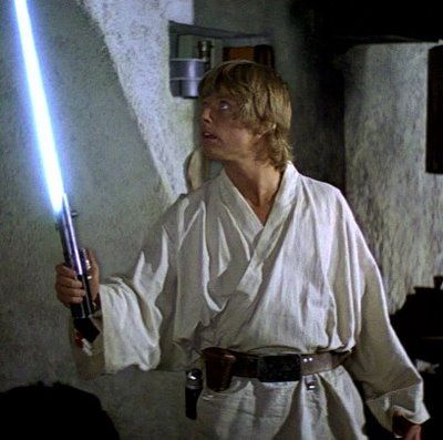 Why does Anakin/Luke's Lightsaber change colour?