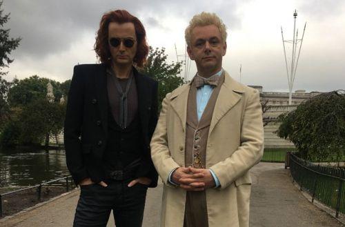Photo: Michael Sheen and David Tennant in Good Omens