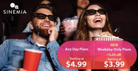 Sinemia Announces New Weekday Only Subscriptions, Includes Family Plans