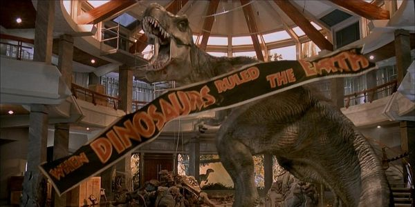 A T-Rex Attacks Hollywood in Jurassic World: The Ride Trailer