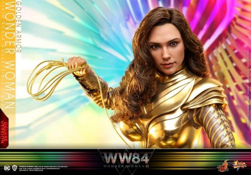 WONDER WOMAN 1984 Golden Eagle Armor Hot Toys Action Figure Shows A Diana Prince Ready For Action