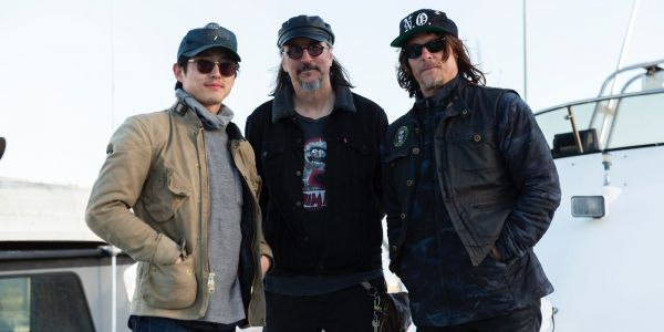 Exclusive Ride With Norman Reedus Clip: Steven Yeun Shares An Etch A Sketch Session