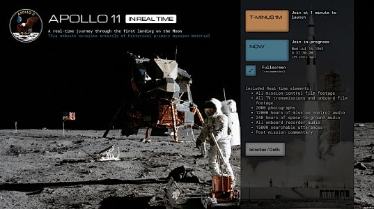 Apollo 11 in Real Time: A New Web Site Lets You Take a Real-Time Journey Through First Landing on the Moon