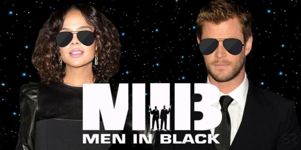 Men in Black Spinoff: Chris Hemsworth & Tessa Thompson Suit Up in New Set Photo