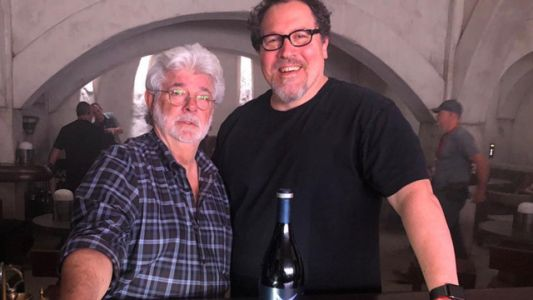 George Lucas Visits Jon Favreau on the Set of The Mandalorian!