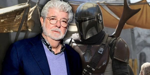 Star Wars: Mandalorian Cantina Revealed In Jon Favreau & George Lucas Photo