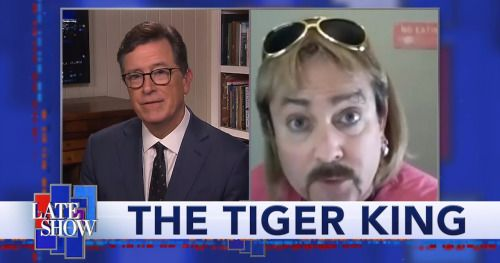 Tiger King Gets a Hilarious Joe Exotic Impression from Thomas