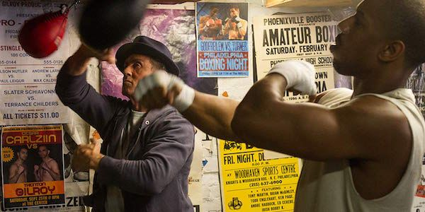 Check Out Michael B. Jordan Boxing With Sylvester Stallone On The Creed Set