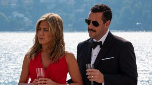 Adam Sandler & Jennifer Aniston Reunite in Murder Mystery Photos