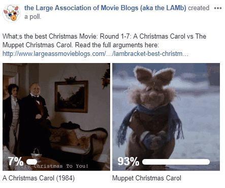 LAMBracket: Best Christmas Movie Round 1-7 Results